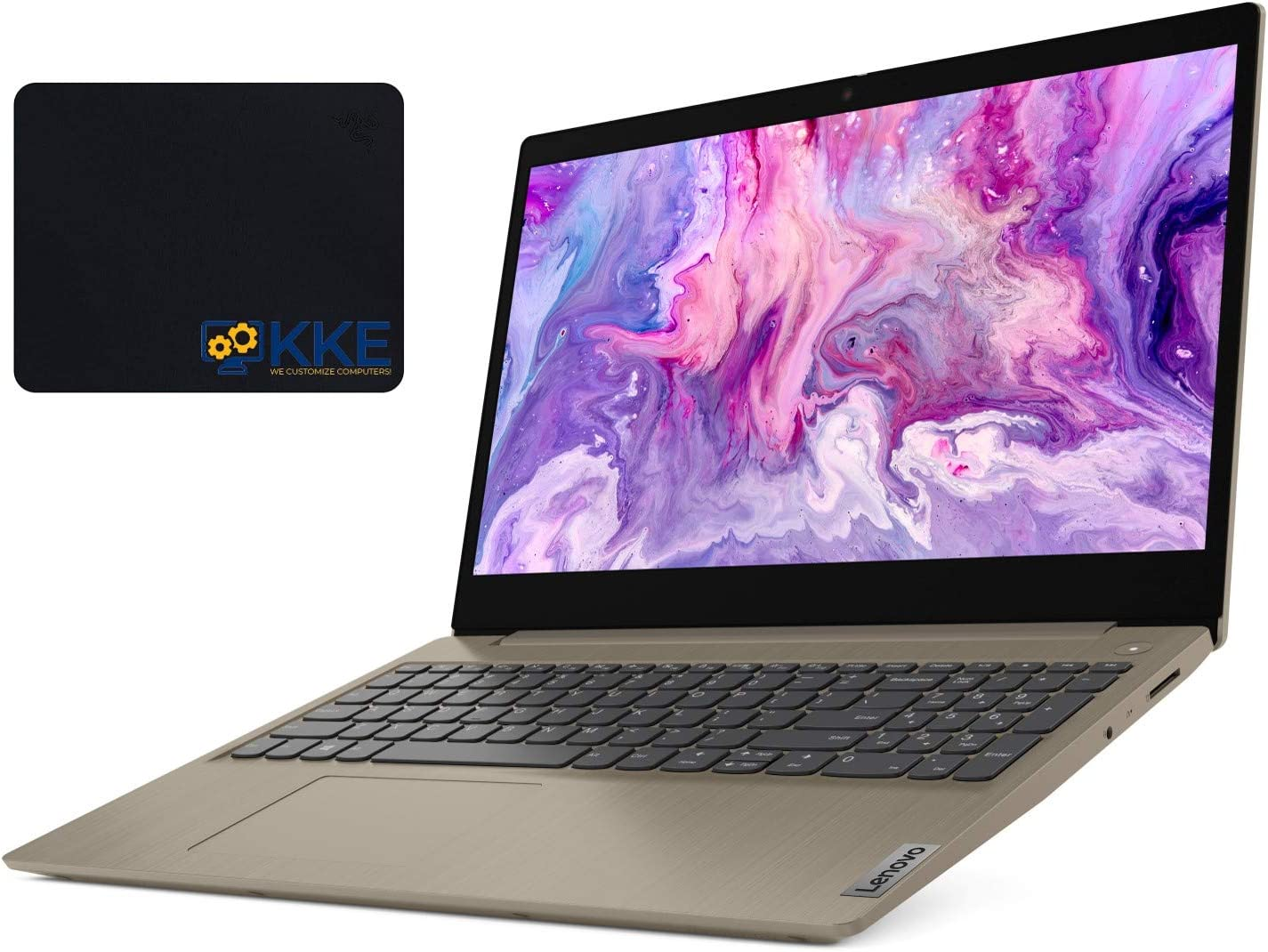 "2020 Newest Lenovo Ideapad 3 (S145 Updated Version) Laptop, 15.6"" HD Touchscreen, 10th Gen Intel Core i3-1005G1 Processor, 20GB Memory, 512GB SSD, HDMI, Wi-Fi, Webcam, Windows 10, KKE Mousepad, Almond"