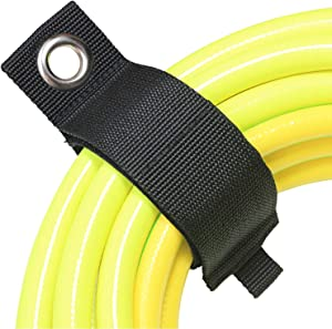 Extension Cord Organizer Holder, Heavy Duty Hook and Loop Straps for Pool Hose Hanger, Rope, Cable or Garage Storage Organization, Home, Yard, Garden, Work Shop, Boat, Basement, Shed, Tool Pegboard