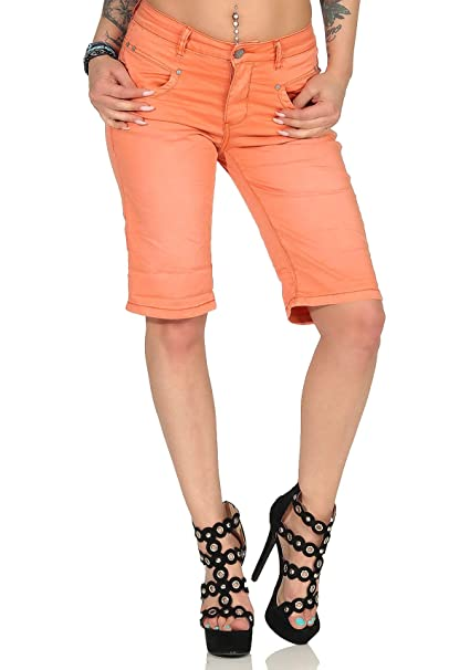 Buena Vista Damen Sommer Jeanshose Anna C Short Stretch