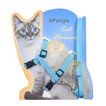 Amazon.com: XPangle Arnés para gato y correa ajustable de ...