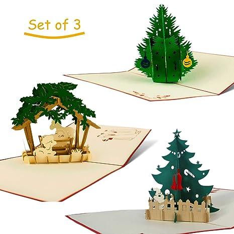 Biglietti Di Auguri Di Natale Per Bambini.3 Christmas Cards I Biglietti Di Auguri Pop Up 3d I Palline