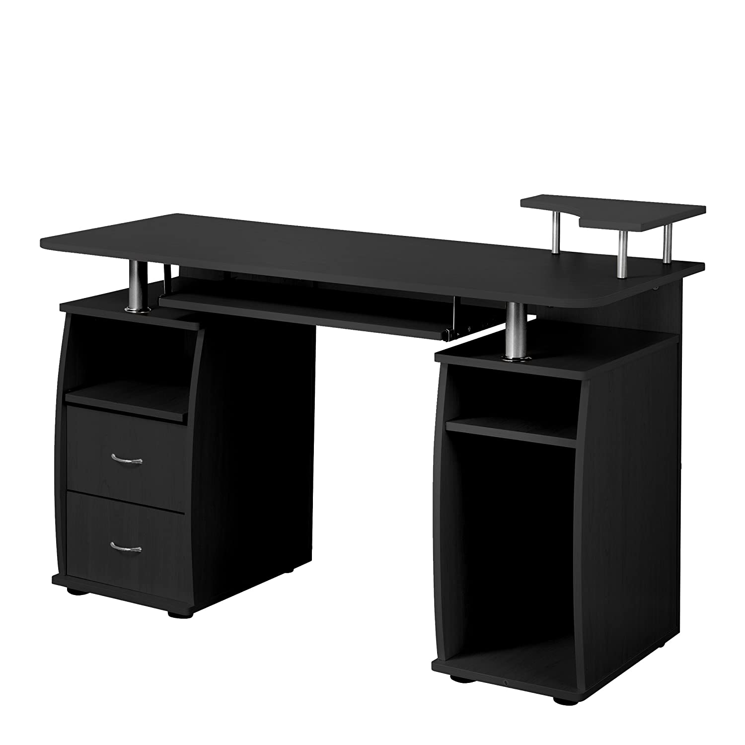 Delicieux Amazon.com : Fineboard Home Office Computer Desk With Raised Side Desktop,  Black : Office Products