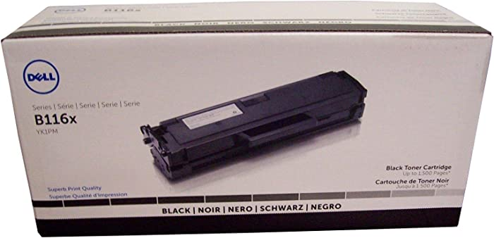 Dell YK1PM 331-7335 B1160 1163 1165 Toner Cartridge (Black) in Retail Packaging