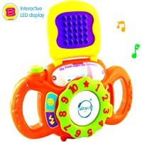 Akhand Educational Musical Baby Camera Toy for Kids with LED Light Display, 123, ABC Sounds