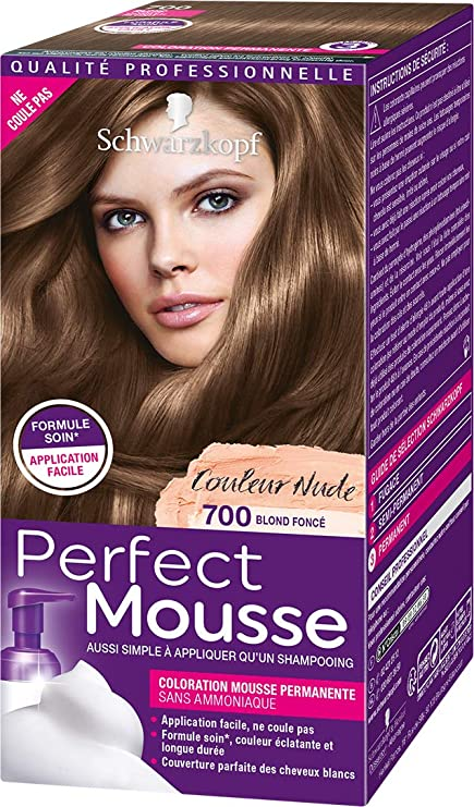 Schwarzkopf perfect mousse 400 couleur de cheveux