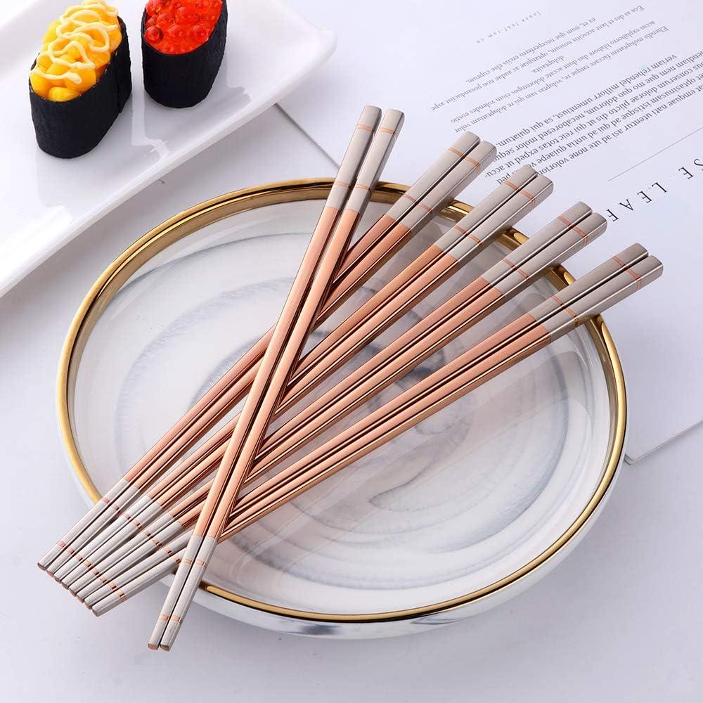 Do Buy Chinesische Essst/äbchen blau edelstahl 5 Paar Sushi St/äbchen f/ür Japanisch Koreanisch Chopsticks Metall 23,4cm L/änge rutschfest Essst/äbchen sp/ülmaschinenfest Geschenk f/ür weihnachten//geburtstag