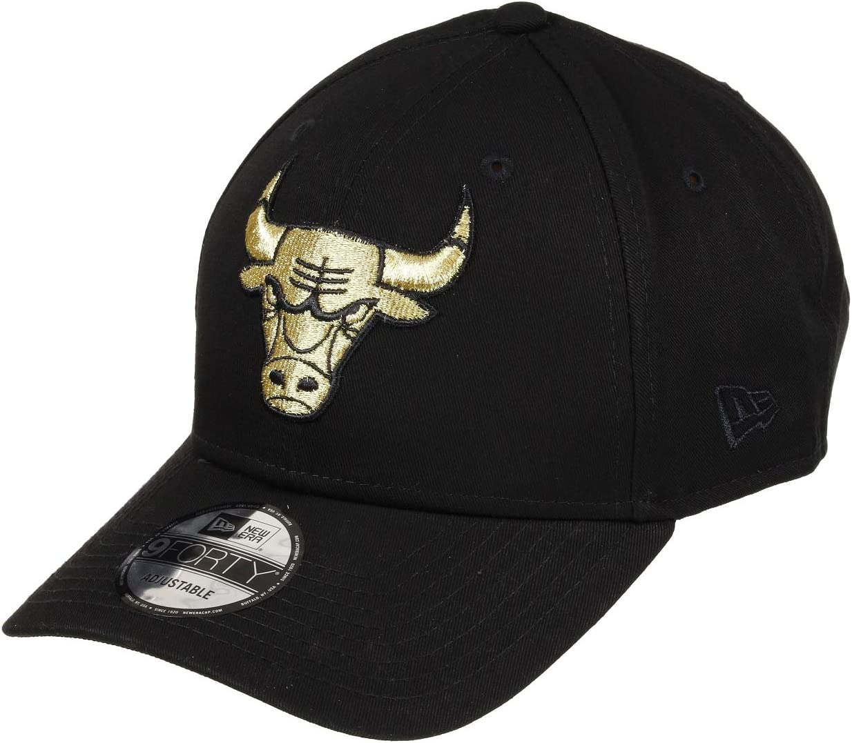 A NEW ERA Era Chicago Bulls 9forty Adjustbale Cap Basic Black Gold ...