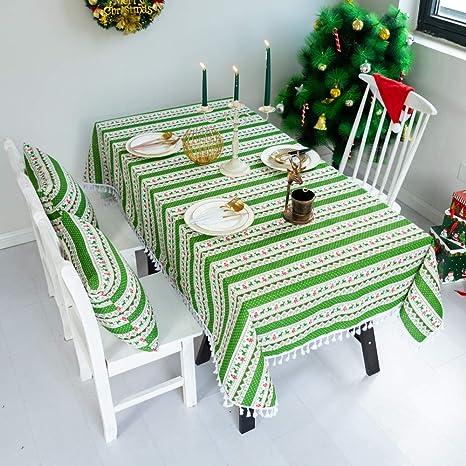 Año Nuevo decoración de Navidad mesa de Navidad mesa de paño ...