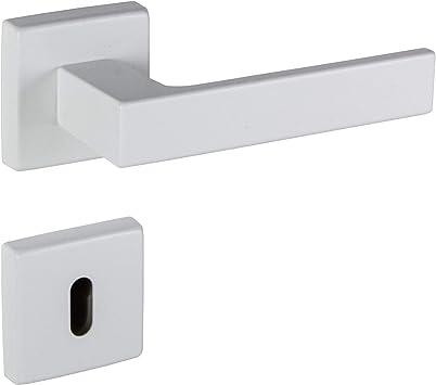 Gedotec PUSH 1317 aluminio Picaporte para puerta de interior color blanco mate Blanco