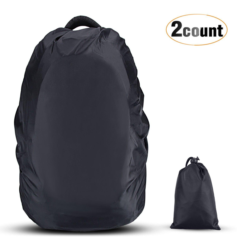 AGPTEK 2 * Fundas Impermeable para Mochila, Protectora Funda de Mochila 26L-40L Anti Polvo para Caminar al Aire Libre Camping Viaje Senderismo, Negro