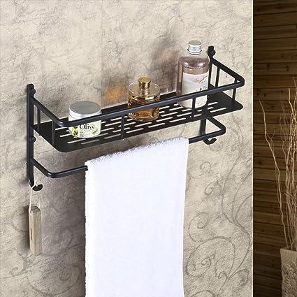 Buy Hiendure Wall Mounted Solid Brass Bathroom Shelves with Towel ...