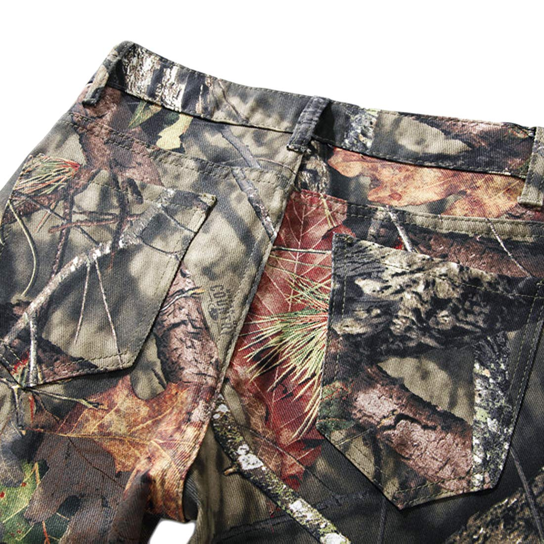 Geurzc Mens Fashion Pattern Jeans Skinny Slim Fit Comfort Stretch Denim Pants for Men Green