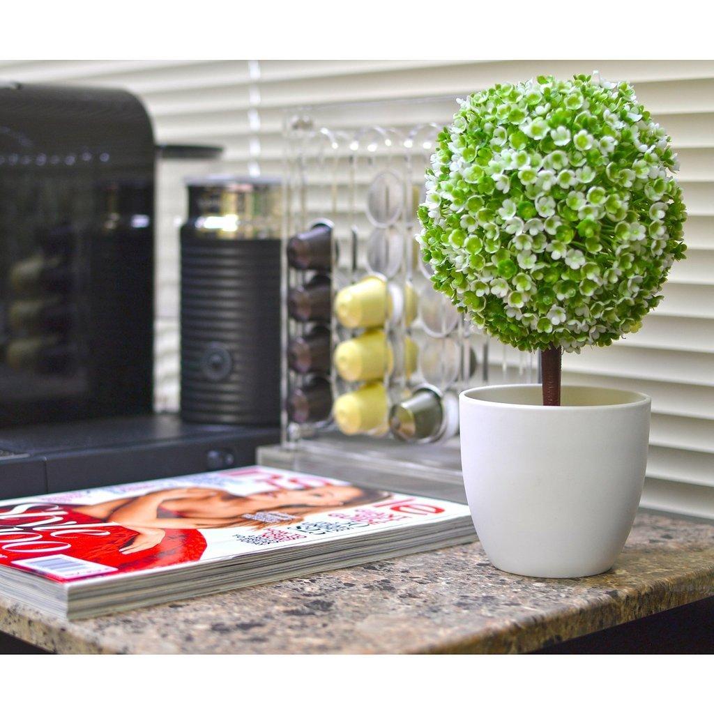 Topiaire artificiel en pot blanc pour décoration de jardin ou de ...