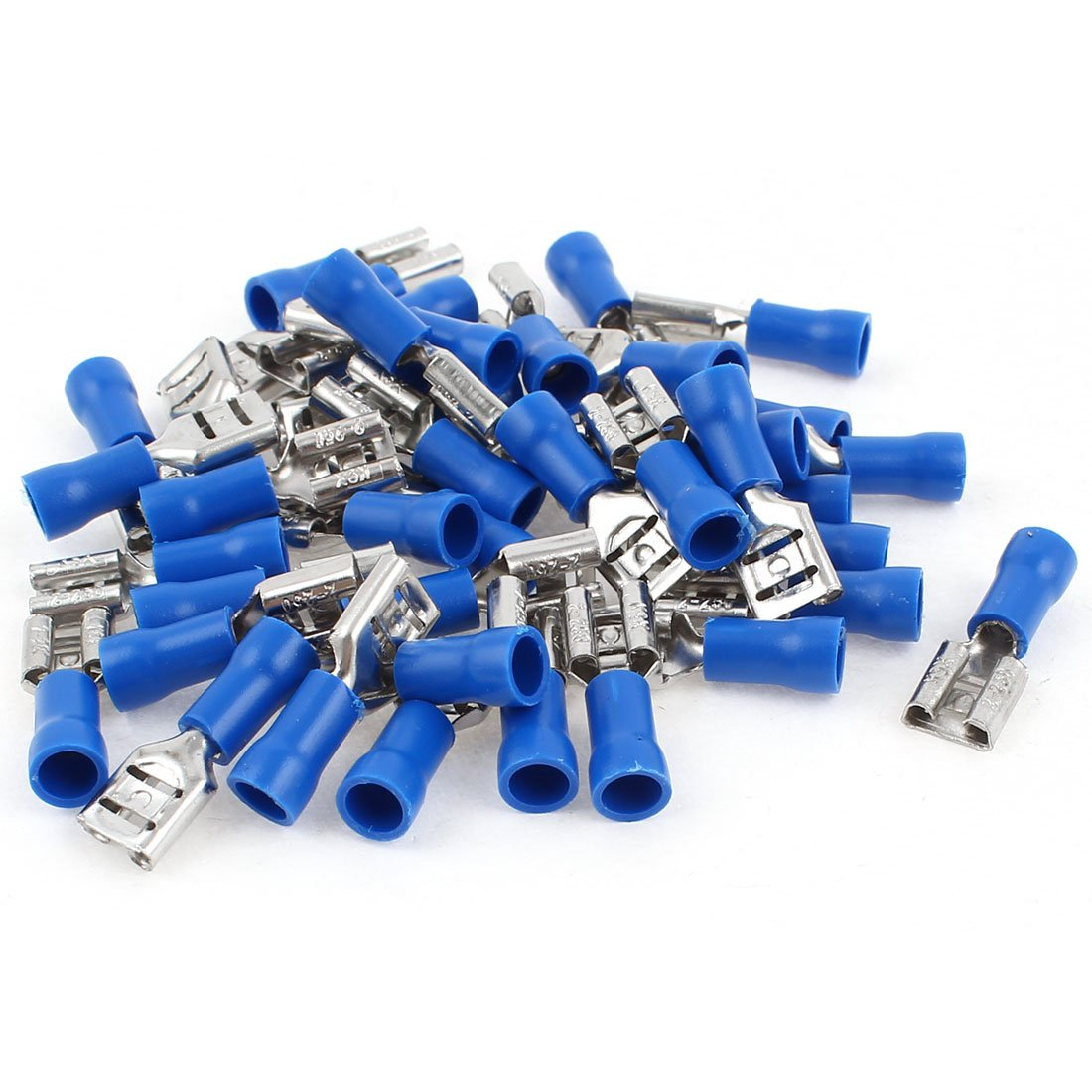 Uxcell FDD 2-250 Pre Insulated AWG16-14 Cable Spade Crimp Terminals, 40 Pcs