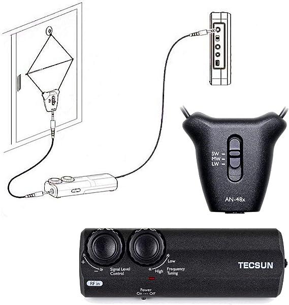 TECSUN AN-48X Antena Loop amplificada portátil 330012