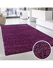 ayshaggy Shaggy Teppich Hochflor Langflor Einfarbig Uni für Wohnzimmer, Flur in Rechteckig, Rund und Quadratisch