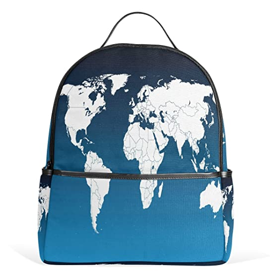Amazon lorvies world map lightweight canvas kids school lorvies world map lightweight canvas kids school backpack book bag for boys girls gumiabroncs Gallery