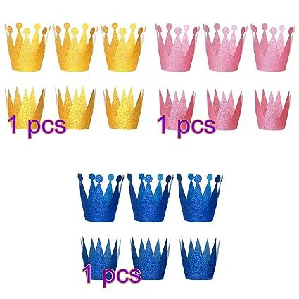 Amazon.com: NUOLUX 18pcs sombreros de la corona princesa ...