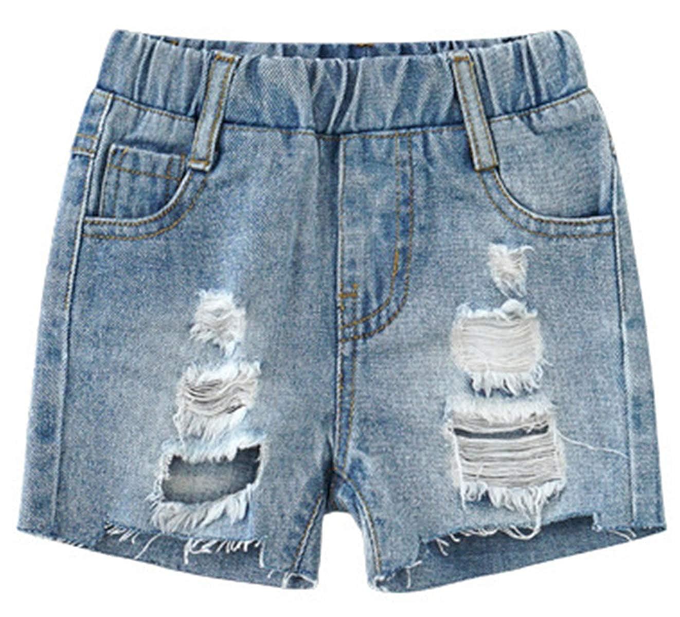 Betusline Toddler Boys Ripped Denim Shorts 12 Month 4 Years