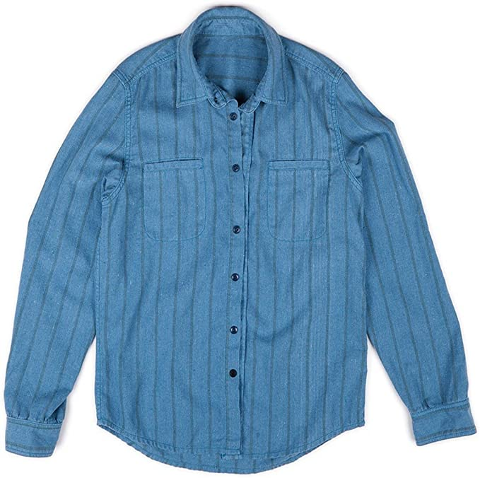 L.Bolt Overdye Stripe LS Henley Indigo Camisas Manga Larga, Hombre, Azul, M: Amazon.es: Ropa y accesorios