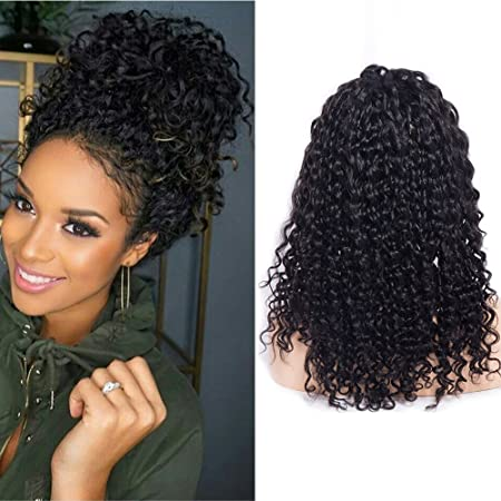 Amazon.com : Maxine Black Short Bob Wig Deep Curly Wig Human Hair Lace Front Wigs For Black Women 180% Density Full Hair Curly Wave Wigs With Adjustable ...