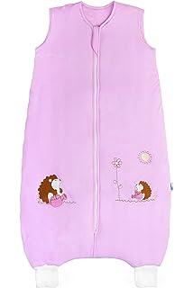 Saco de dormir con patas de bambú en 2.5 tog para niña. Erizo rosa.