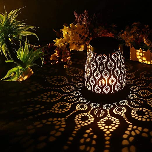 Volwco Farol Solares Exterior Jardin Colgante Lámpara De Metal De Luces Ip65 Impermeable Decoración De Lámpara De Mesa Retro Romántica Para Patio