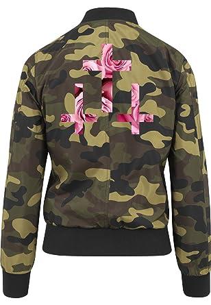 Bomber CamouflageAmazon Certified Vest Girls Freak Crosses Roses b7gYyvIf6