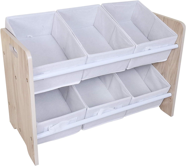 Kiddi Style Kids Storage Wooden Chest Childrens Bookcase Sling Bookshelf Toy Box