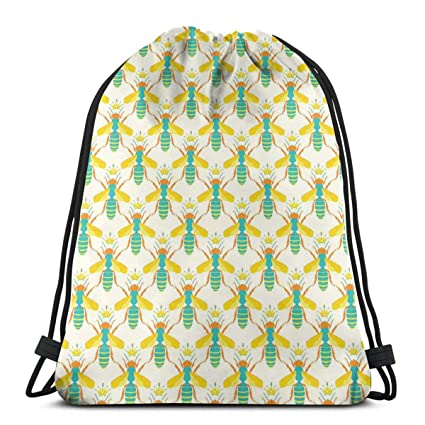 031d52dbaa94 Amazon.com | Printed Drawstring Backpacks Bags, Queen Bee Of The ...