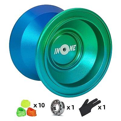 INONE Aurora Yoyo Non Responsive Yo-yos Aluminum Alloy Metal Unresponsive Yoyos: Toys & Games