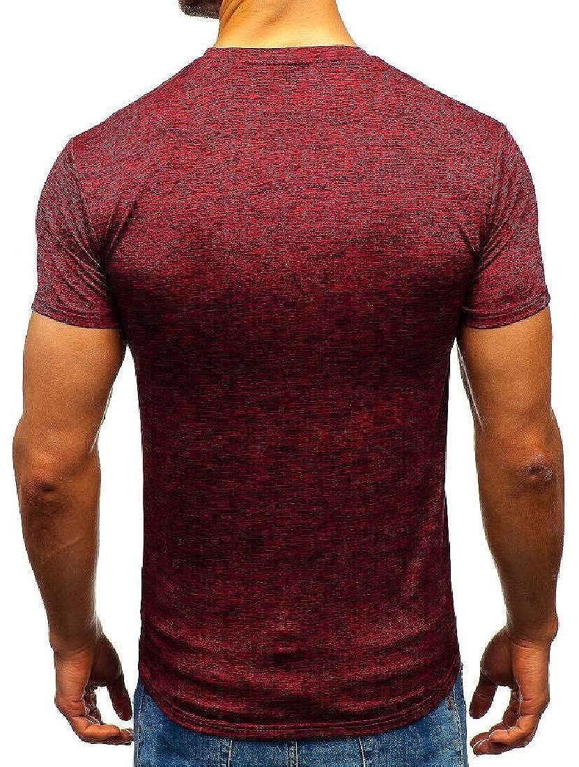Vska Mens Athletic Short-Sleeve Pure Color O-Neck T-Shirt