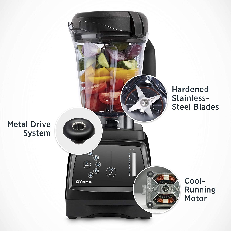 Vitamix 780 Blender Renewed Professional-Grade Low-Profile Container Black 64oz