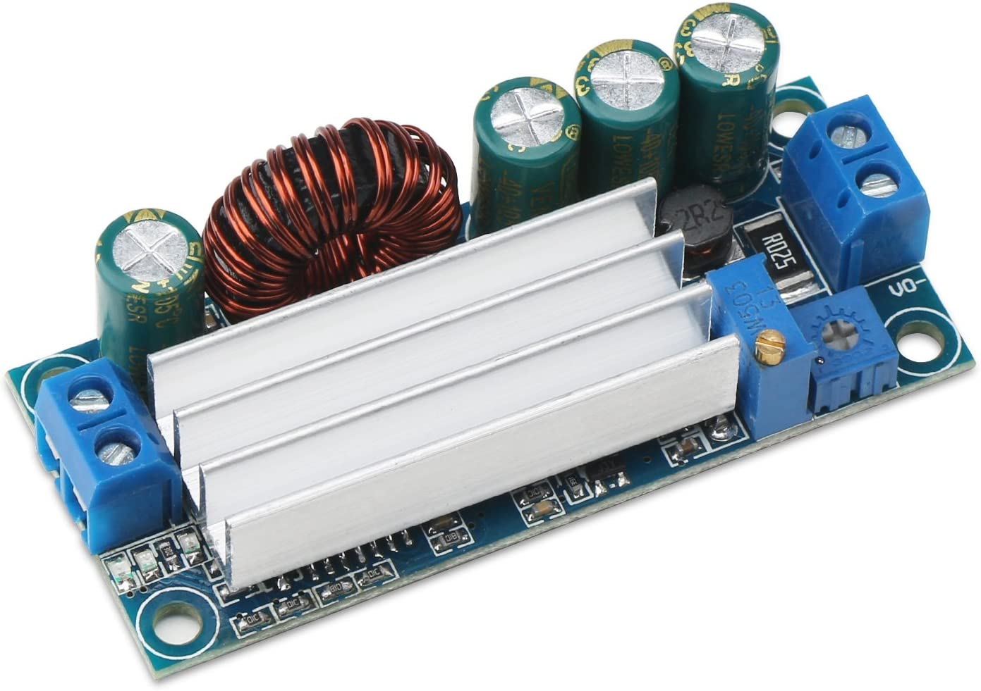 Buck Boost Converter, DROK DC-DC Buck Boost Converter Voltage Step Up Down Regulator CC CV 5-30V to 0.5-30V Adjustable Power Supply Transformer Module