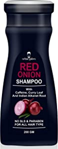 UrbanGabru Natural Onion shampoo for hair strengthening & hairfall control - Paraben & Sulphate free 200gm