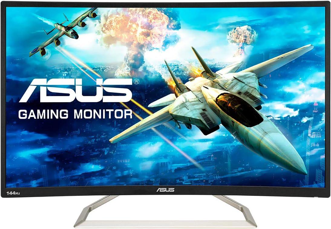 """ASUS VA326HR - Monitor de Gaming 31,5"""" (FHD, 1920x1080, 144 Hz, Curvo, Antiparpadeo, Luz Azul de Baja Intensidad): Asustek: Amazon.es: Informática"""
