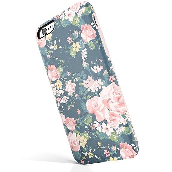 ab7e7e69ab Amazon.com: iPhone 6/6s case floral, Akna New Glamour Series [All ...