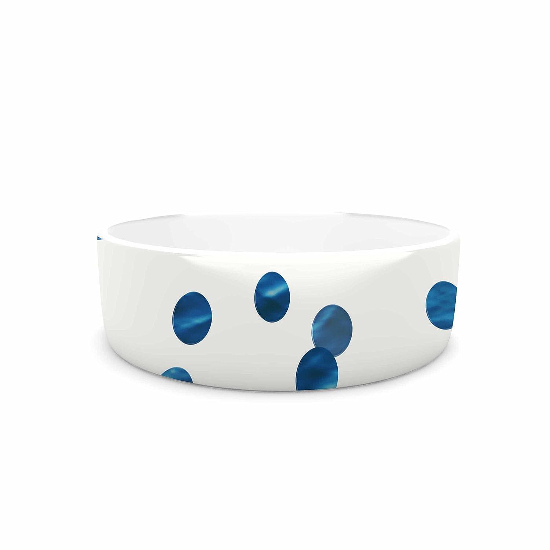 7\ KESS InHouse Chelsea Victoria Ocean Confetti  bluee White Pet Bowl, 7