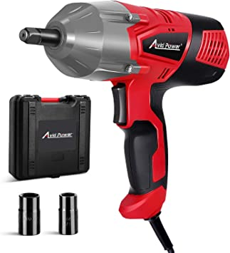 AVID POWER Electric Impact Wrench with 1/2 Inch Chuck, 500 N.m (370 Ft-lbs) Max Torque with 2 Sockets(13/16'' 3/4'')
