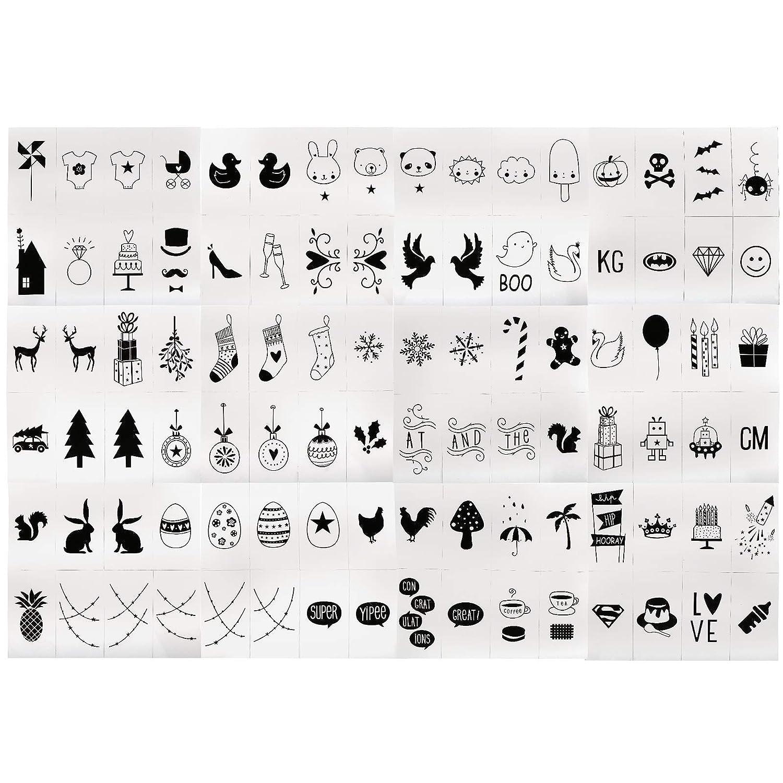 Symbole Emoji Festival Buchstaben Set für LED A4 Lichtbox Leuchtkasten DIY