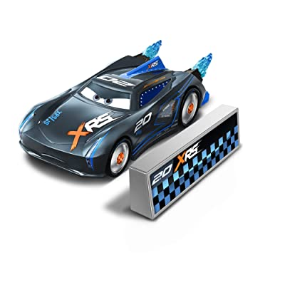 Disney Cars XRS Rocket Racing 1:64 Die Cast Car with Blast Wall: IGNTR #2.0 Jackson Storm: Toys & Games