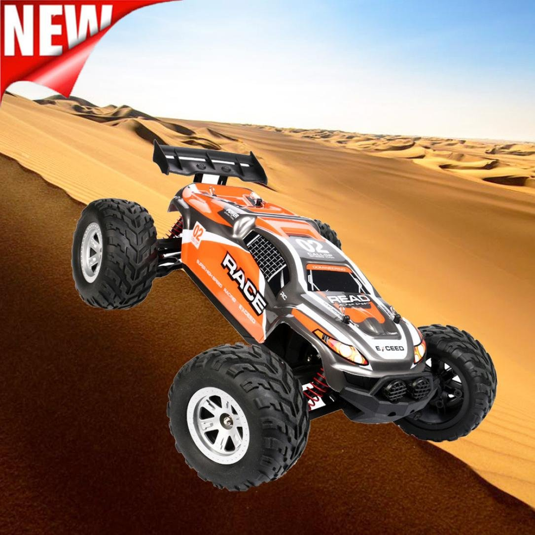 Excellent 1:12 High Speed Motor High Capacity Battery Waterproof IP4 RC Desert Off-Road Racing Truck Car New Year Gifts Dreamyth (Orange)
