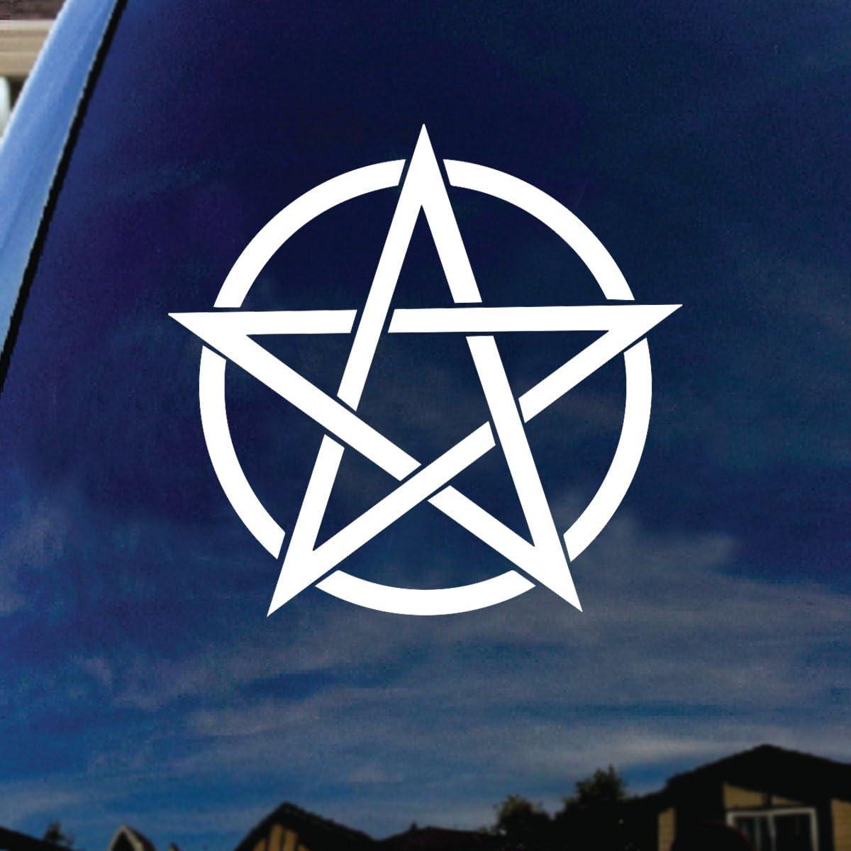 "SoCoolDesign Pentagram Band Car Truck Laptop Sticker Decal 6"" Diameter"