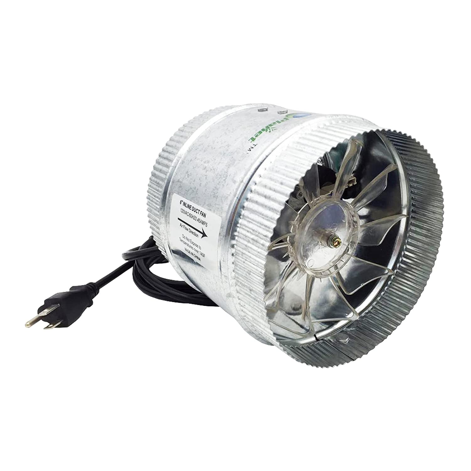 Duct Booster Fan : Hydroplanet duct booster exhaust fan inch cfm ebay