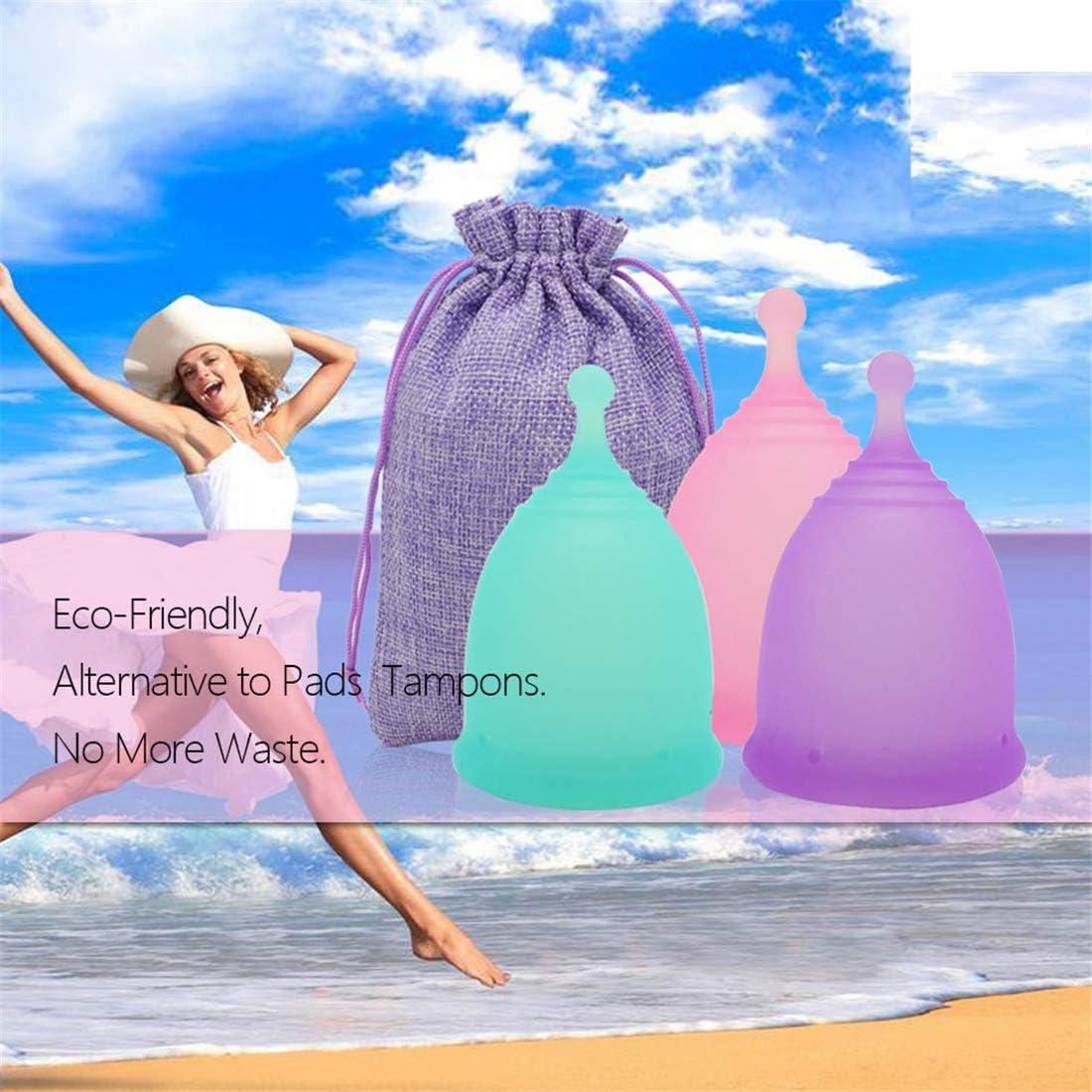 Copa Menstrual premium pcs del diseño 3, más cómodo Menstrual ...