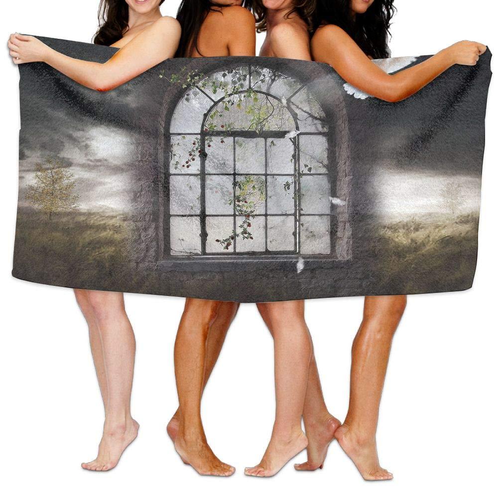 Xianjingshui 31x51 inch High Absorbency Bath Towel Dove Windows Portal Lightweight Large Bath Sheet for Beach Home Spa Pool Gym Travel
