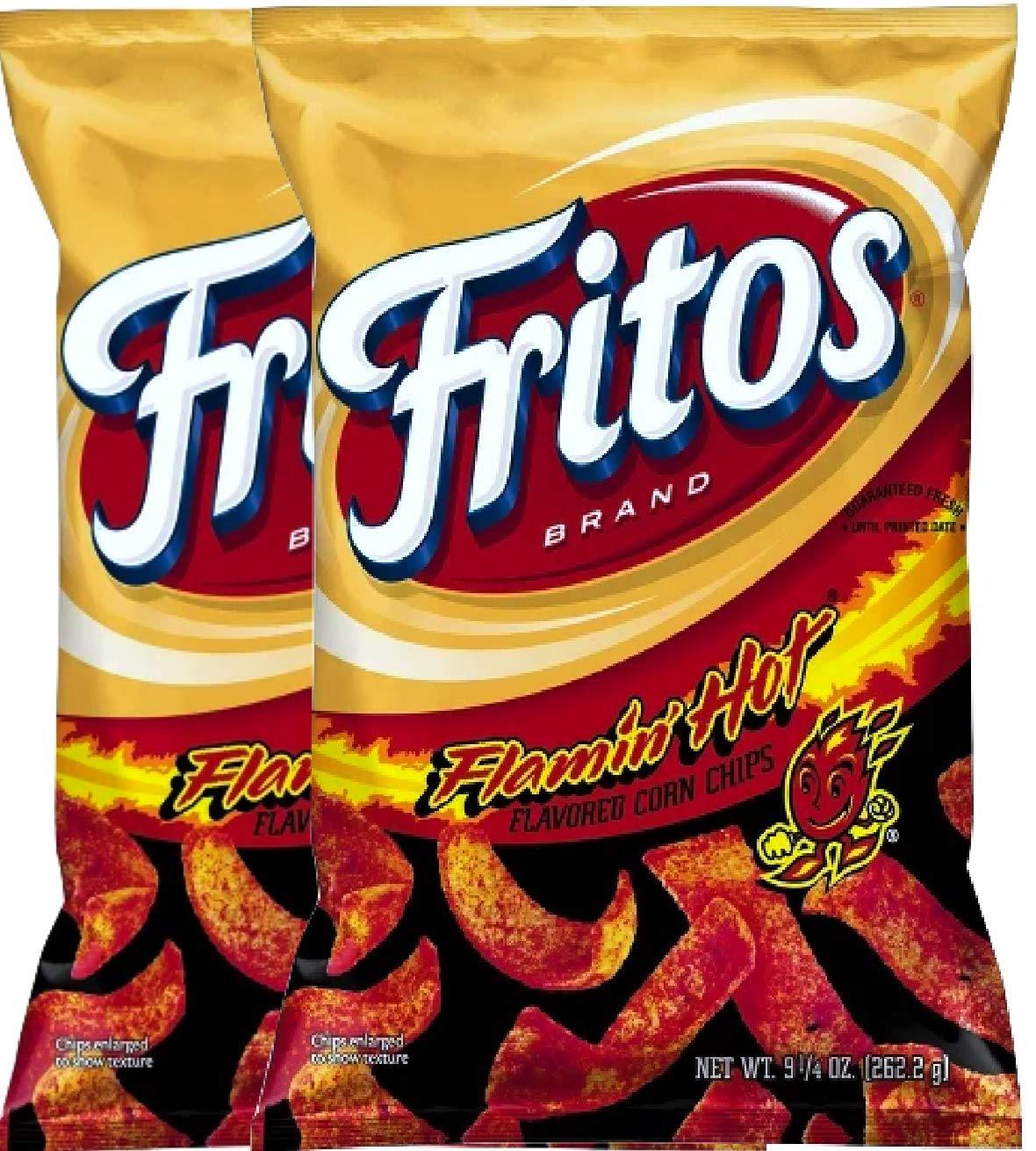 NEW Fritos Flamin Hot Flavored Corn Chips - 9.25oz (2)