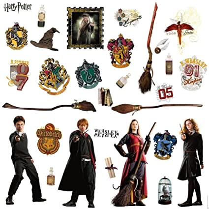 Defonia Harry Potter 30 Big Wall Stickers Ron Hermoine New Room Decor Bedroom Decals
