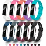 Fitbit Alta Bands,Greeninsync Fitbit Alta Accessory Replacement Bands Large Small Available in 18 Colors with Metal Clasp and Ultrathin Fastener