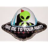"ALIEN FLYING SAUCER 29"" ANTI-GRAVITY FLOATING TOY - Amazing STRING-LESS HOVERING ZERO-G Balloon, Flying Saucer Outer Space Birthday Party Favor"